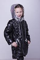 Куртка детская весенняя Тэффи (весна 2018) на девочку , черная. От производителя