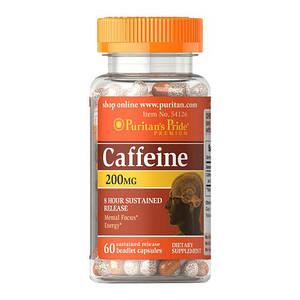 Кофеин Puritan's Pride Caffeine 200 mg 60 caps