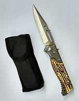 Нож выкидной с костяной ручкой 21см 233А