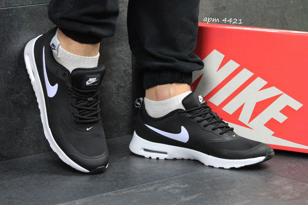 Мужские кроссовки Nike air max Thea,черно-белые 45р