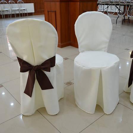 Чохол з Бантом-поясом на круглий стілець з міцної легкої тканини, фото 2