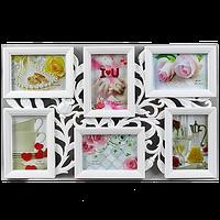 Мультирамка-коллаж с цветами на 6 фотографий