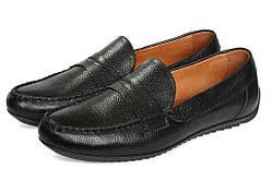 Мокасины мужские кожаные Аnton Kuzmin ML Flotar Black черные