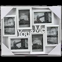 Мультирамка для влюбленных с надписью на 6 фотографий