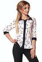 Женская блуза с принтом котики. Модель 411.