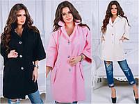 Женское пальто кашемир ВЗОР Lx2018 3цвета вналичии
