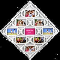Мультирамка в виде ромба на 9 фотографий