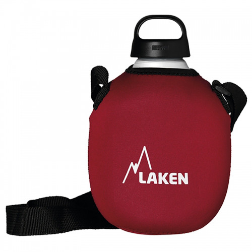 Фляга Laken Classica 1L with neoprene cover and shoulder strap