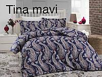 Постельное белье сатин Altinbasak (евро-размер) № Tina Mavi, фото 1