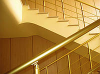Перила из анодированного алюминия золото