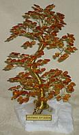 Дерево счастья среднее с мелкими камнями янтаря (17 см)