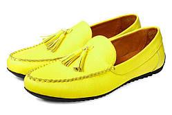 Желтые мокасины мужские кожаные Аnton Kuzmin ML Super Lemon