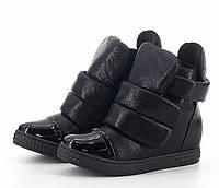 Кроссовки- сникерсы на липучке, обувь женская красивые