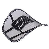 Ортопедическая спинка подушка с массажером для кресла автомобиля