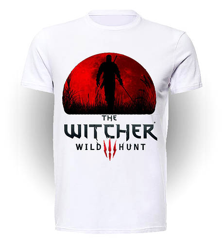 Футболка GeekLand Ведьмак The Witcher  red moon WC.01.30