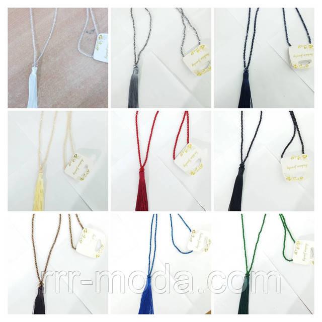 Женские кулоны с кисточками из стекляруса и нитей, массивные этно подвески кулоны оптом.