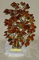 Дерево счастья с крупными камнями янтаря (16*17*12 см), фото 1