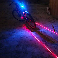 Габаритные огни RGB, Велосипедный лазерный фонарь