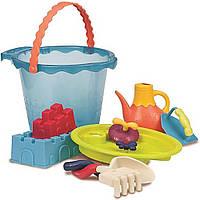 Набор для игры с песком и водой Ведерце  Море (9 Предметов) Battat (BX1444Z)