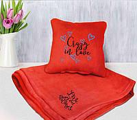 Плед флисовый и подушка