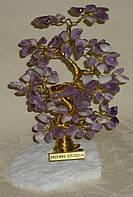 Дерево счастья с крупными камнями аметиста (15 см)