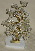 Дерево счастья с крупными камнями горного хрусталя (17 см)