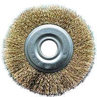 Щетка дисковая рифленная проволока Ø100*22 мм.