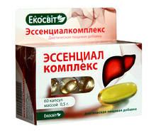 «Эссенциалкомплекс» кап.60-при заболеваниях печени