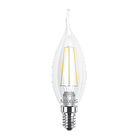 Светодиодная LED лампа MAXUS, 4W, 4100K, 220V, C37 FM-C, E14