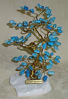 Дерево счастья среднее с камнями бирюзы (17 см), фото 1