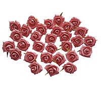 Цветы Розы малиновые из фоамирана (латекса) 3 см 10 шт/уп