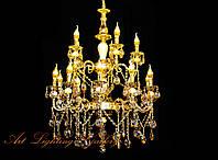 Большая хрустальная люстра в золотом цвете 6129/15, фото 1