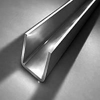 Профиль нержавеющий (швеллер для душевых кабин) 15х11 длина 2,2 м