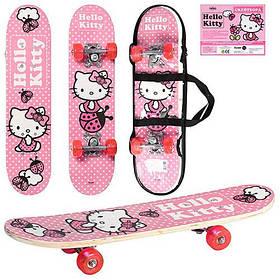 Скейт НК 0052 в сумке. Hello Kitty. Розовый
