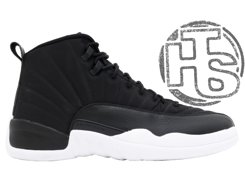 Мужские кроссовки Air Jordan 12 XII Retro x PSNY Friends and Family  Playoffs Black White bccadb276bc