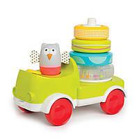 Развивающая машинка с пирамидкой Малышка:  два в одном Taf Toys (11945)