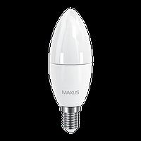 Светодиодная LED лампа MAXUS, 6W, 4100K, 220V, C37 CL-F, E14