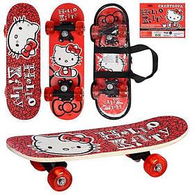 Скейт НК 0053 в сумке. Hello Kitty. Красный