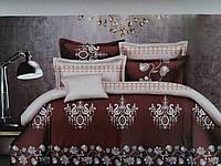 Евро комплект постельного белья ''Лоранж'' коричневый