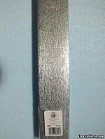 Бумага гофрированная (креповая) №802 металлизированная СЕРЕБРО