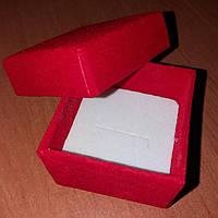 Коробочка подарочная бархатная красная