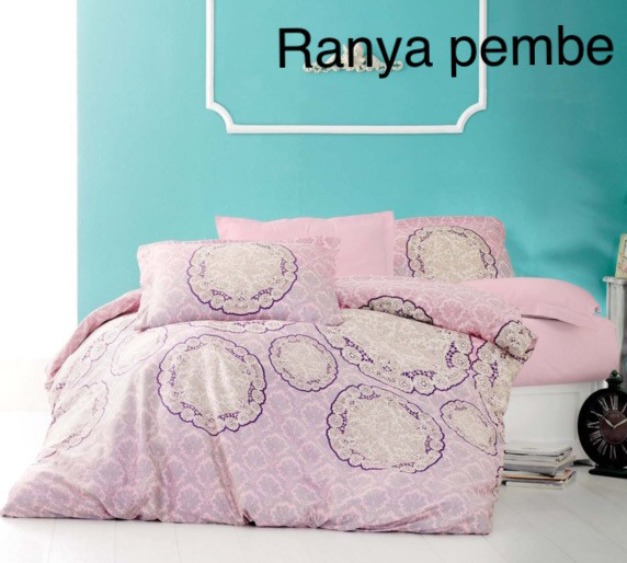 Постельное белье сатин Altinbasak (евро-размер) № Ranya Pembe