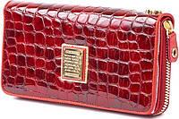 Стильный кожаный кошелек для женщин WANLIMA (ВАНЛИМА) W82022849997-red красный