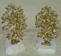 Дерево щастя з камінням цитрину (17 см)