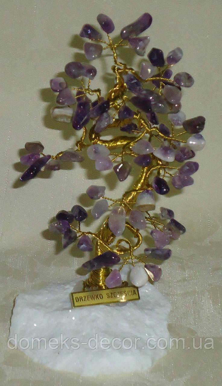 Дерево счастья с камнями аметиста (17-18 см), фото 1