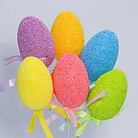 Яйца пасхальные 6 см, упаковка 6 шт, на проволочке