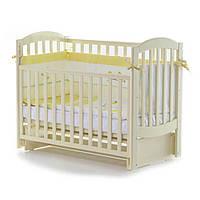 Детская кроватка Соня ЛД10 маятник без ящика  Слоновая кость Верес (10.3.04)