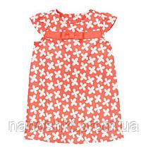 Gymboree, платье жакард для девочки, коралловое в цветочек