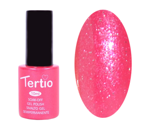 Гель лак Tertio 063, ярко розовый с микроблеском, 10мл