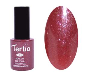 Гель лак Tertio 065, красно малиновый с микроблеском, 10мл